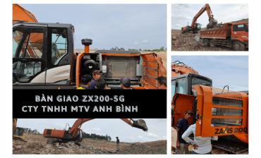 BÀN GIAO HITACHI ZX200-5G & HÌNH ẢNH THỰC TẾ TẠI CÔNG TRƯỜNG CTY TNHH MTV ANH BÌNH